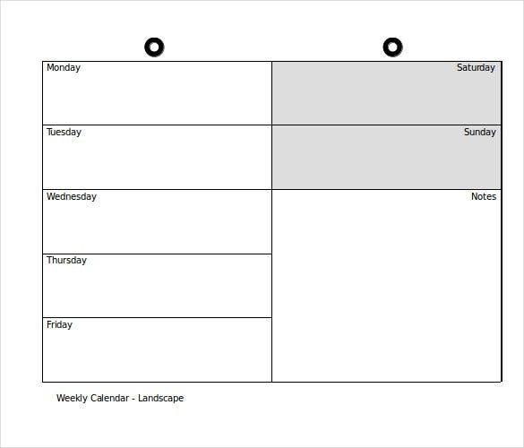 Sample Calendar Template Free Monthly Calendar Template Download