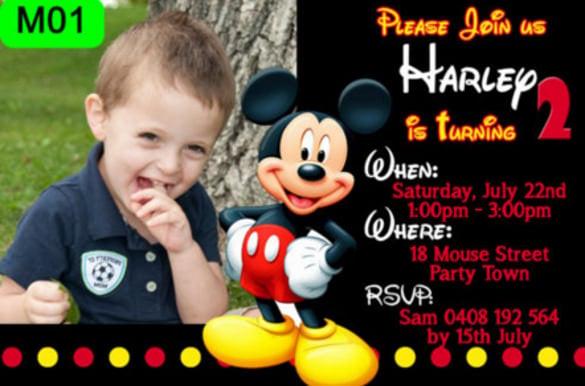 mickey mouse birthday party invitations