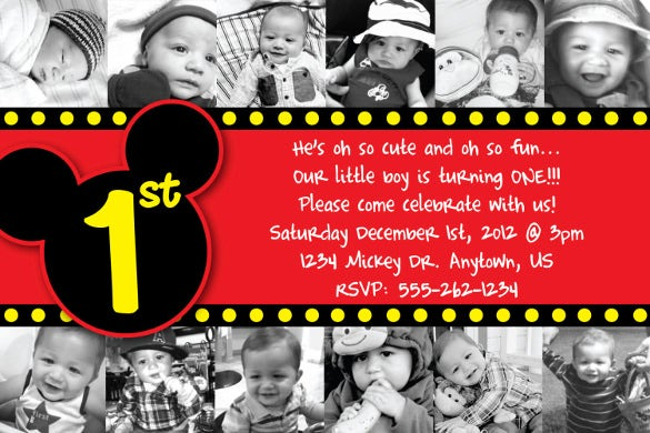15  mickey mouse birthday invitation templates  u2013 psd