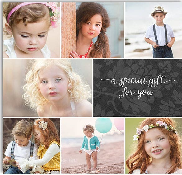 5x5 size psd photography gift certificate template download