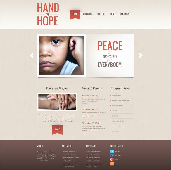 charity for helping people website wordpress theme