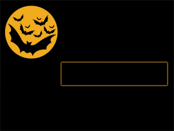bats halloween powerpoint template