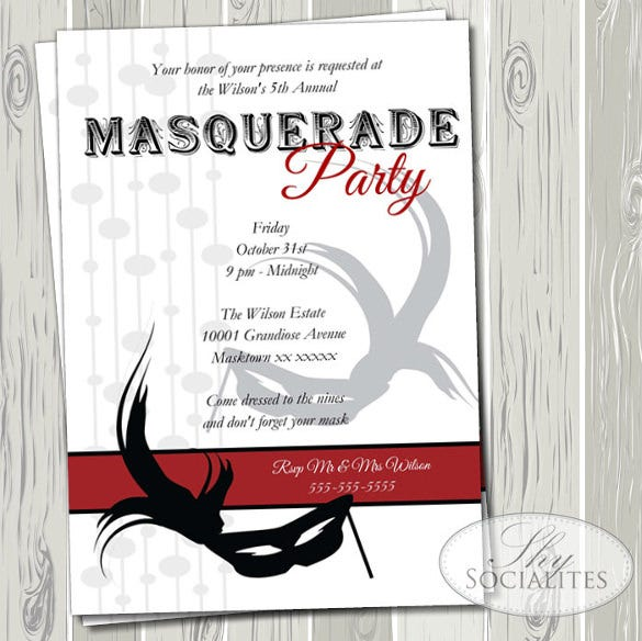 20 Masquerade Invitation Templates
