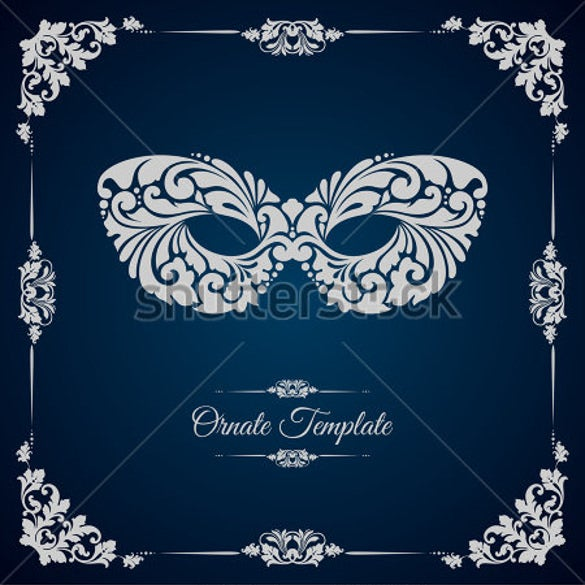 18 Masquerade Invitation Templates Free Sample Example Format – Ball Ticket Template