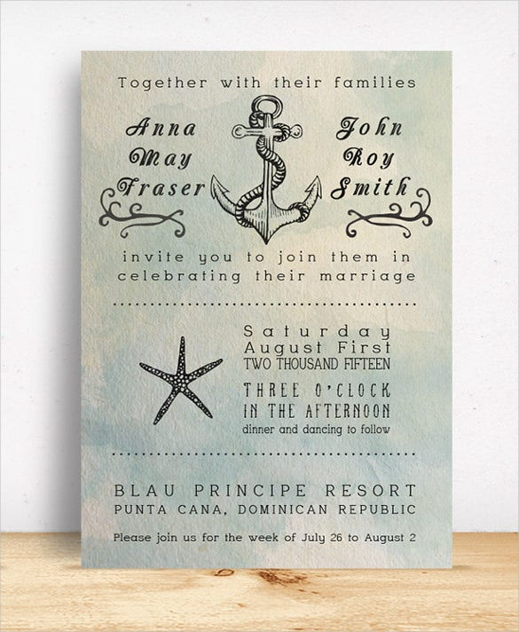 24+ beach wedding invitation templates – free sample, example, Wedding invitations