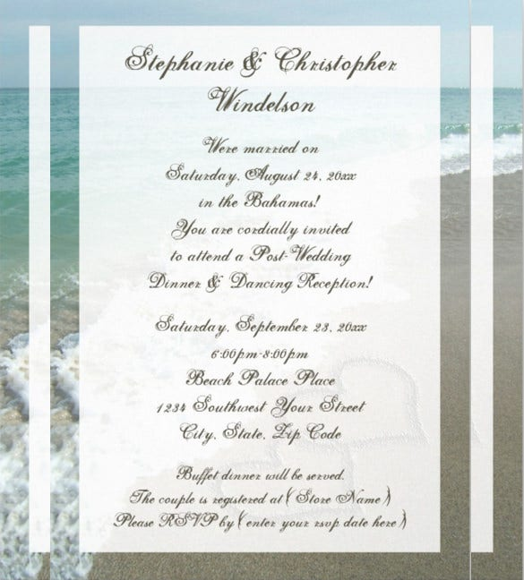 beach hearts beach wedding invitation templates