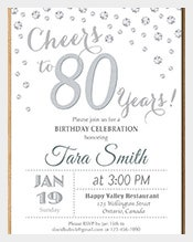 80th-birthday-invitation-Silver-Glitter