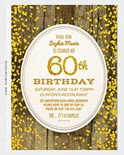 60th-birthday-invitation,-gold-glitter-birthday-invitation