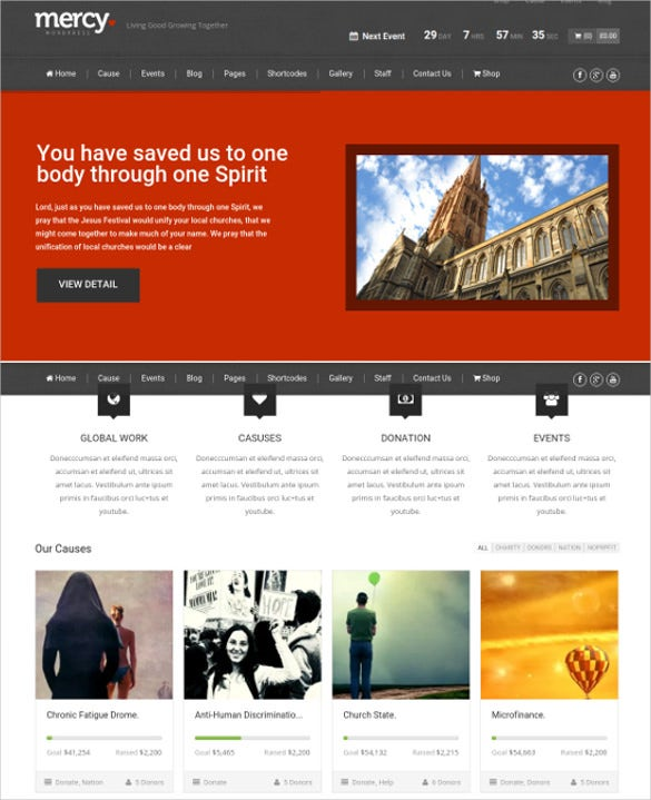 charity for environmental website theme