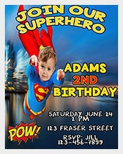 Boys-Birthday-Invitation,-Super-Hero-Invite