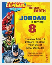 Justice-League-Birthday-Celebration-Party-Invitation