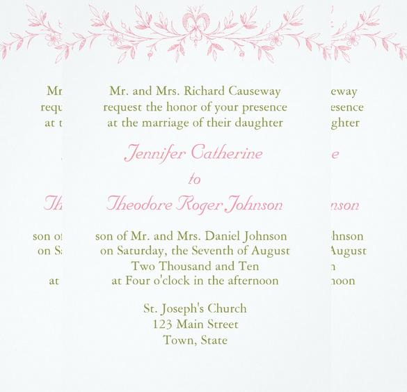 etiquette wedding invitation