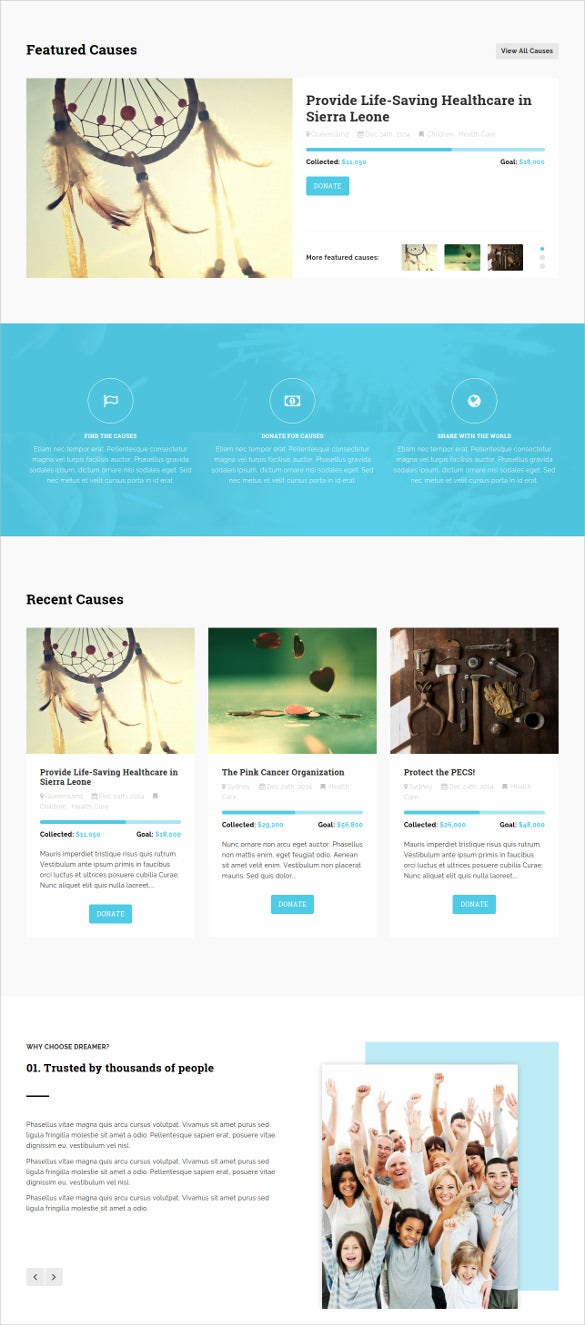 multipurpose charity html website template