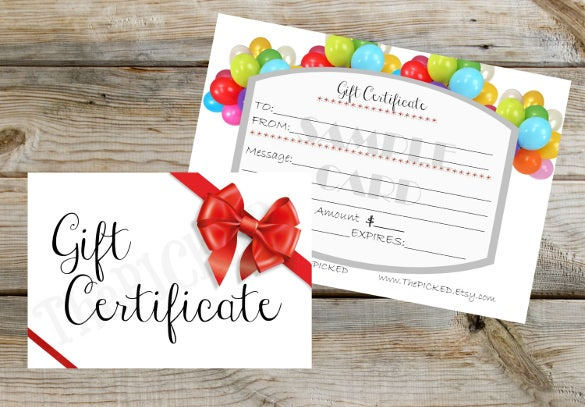 15+ Birthday Gift Certificate Templates – Free Sample, Example