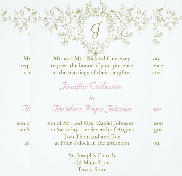 invitation wordings