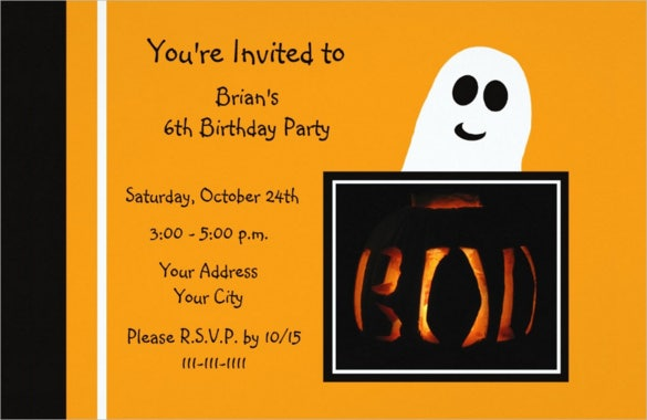 19 halloween birthday invitations psd vector eps ai free