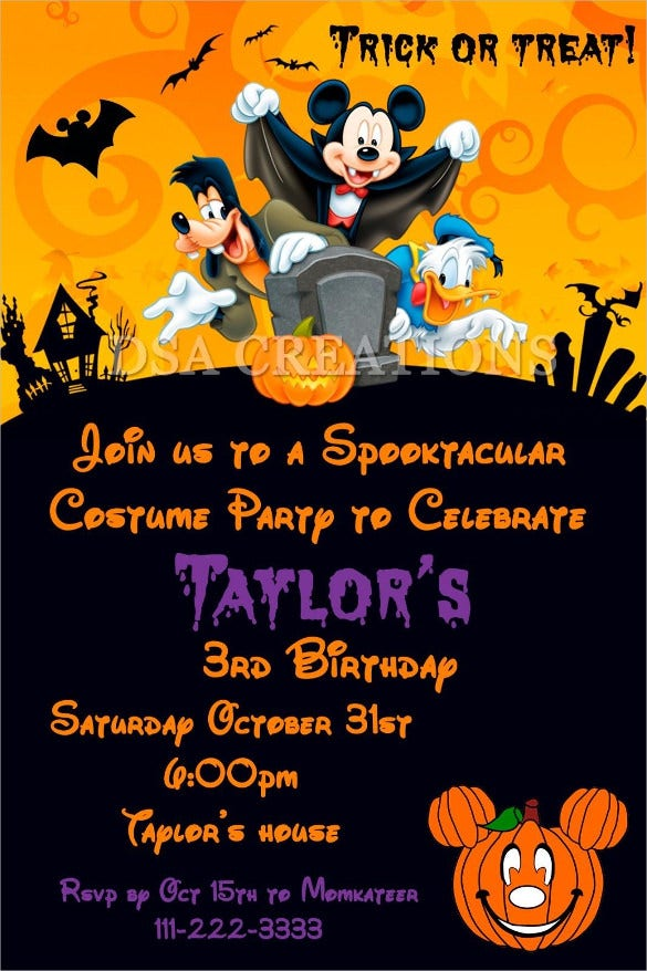 20+ Halloween Birthday Invitations – Free PSD, Vector EPS, AI ...
