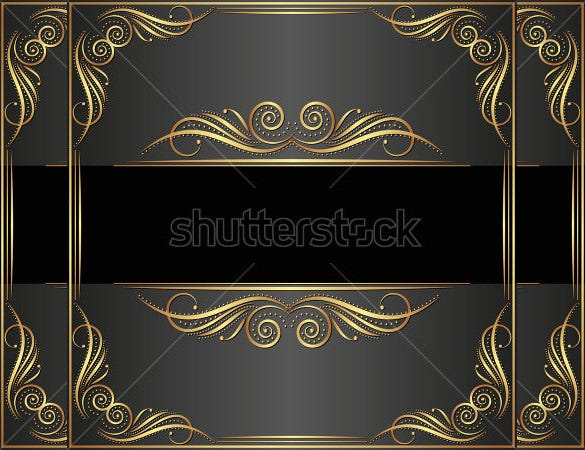 black background with antique ornament