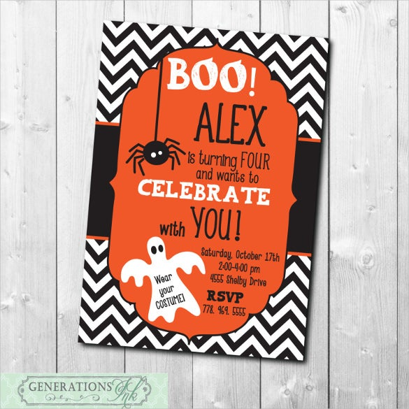 halloween birthday invitation digital file printable