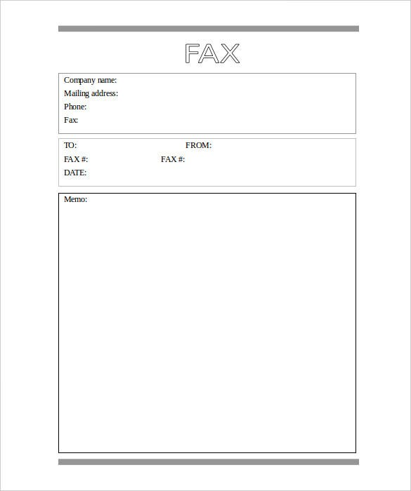 Download Basic Fax Cover Sheet Word Doc