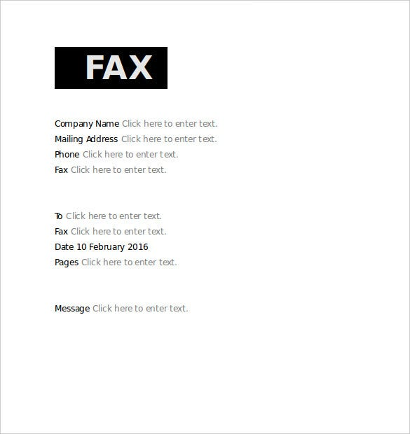 Basic Fax Cover Sheet   Free Word Pdf Documents Download