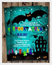 Blue-Color-Halloween-Birthday-invitation--For-Kids