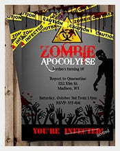 Red-yellow-printable-Zombie-halloween-Birthday-Invitation