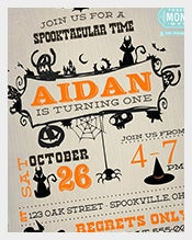 Vintage-Halloween-Birthday-Invitation-With-Thank-you-Note-