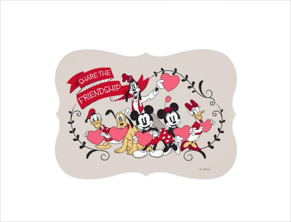 mickey mouse friendship invitation card2