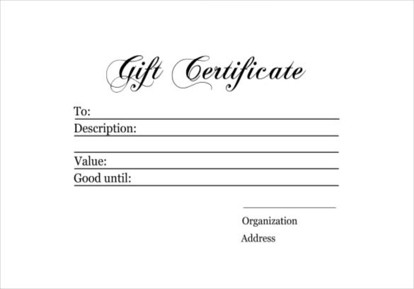 templates for gift certificates free downloads - 6 homemade gift certificate templates doc pdf free