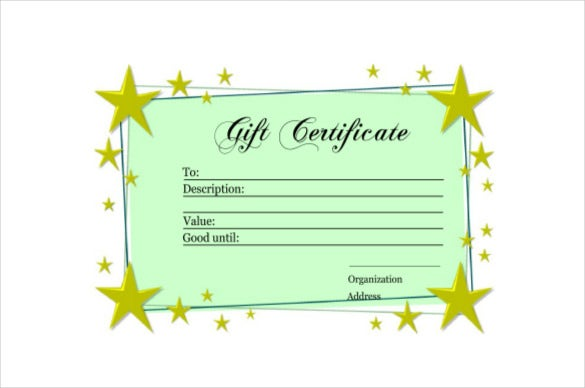 homemade gift certificate example pdf template free download