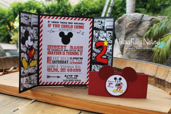 mickey mouse invitation for all