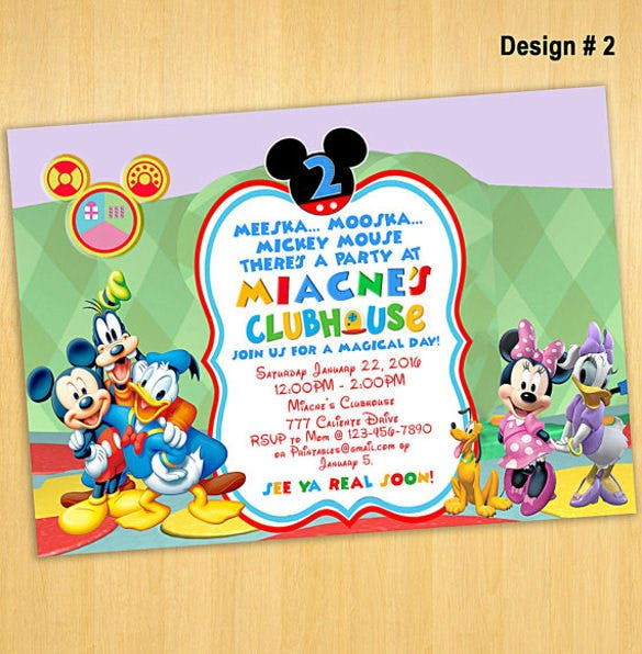 mickey mouse invitation to clubhouse