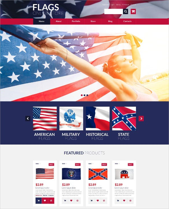 flags store woocommerce political blog theme