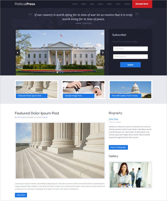 political press responsive wordpress blog theme