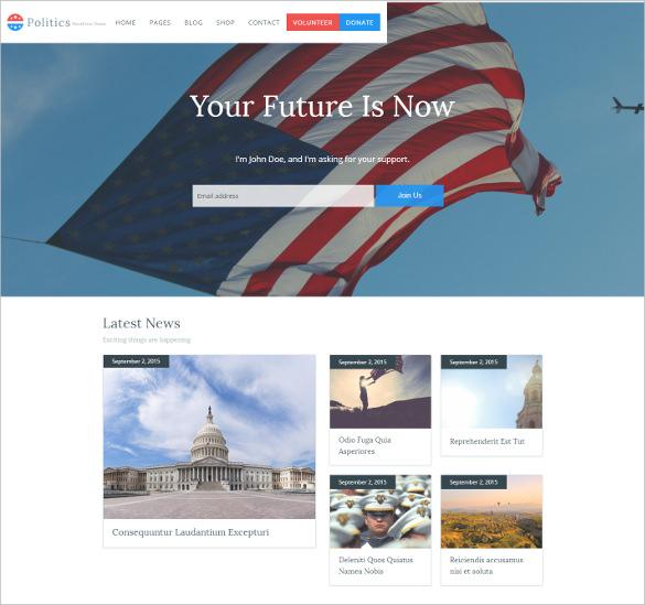 political government campaign wordpress blog theme