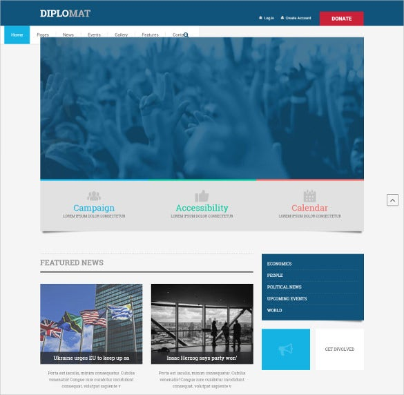 political candidate news blog template