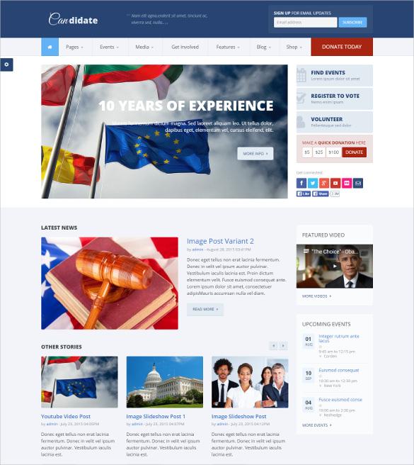 candidate political nonprofit drupal blog theme1
