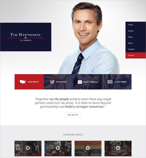 political wordpress blog theme
