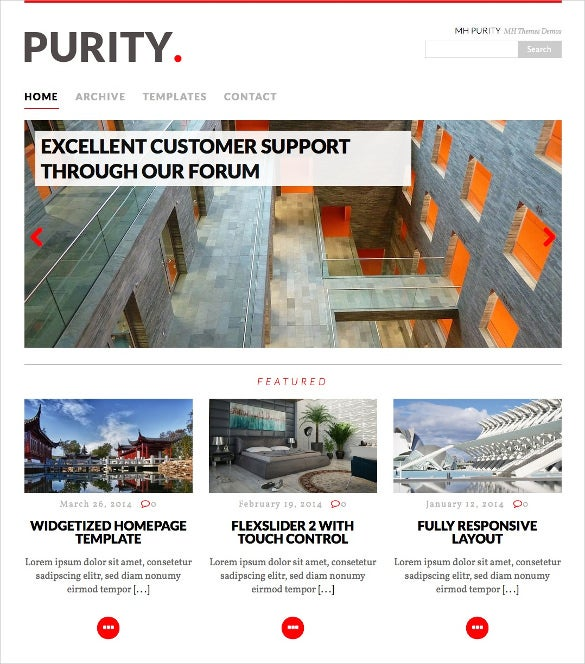 purity political wordpress blog theme