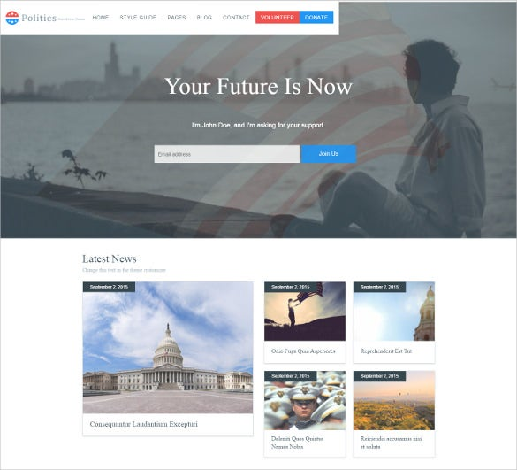 free political wordpress blog theme