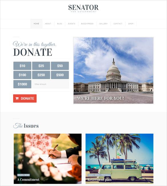 political wordpress html5 theme