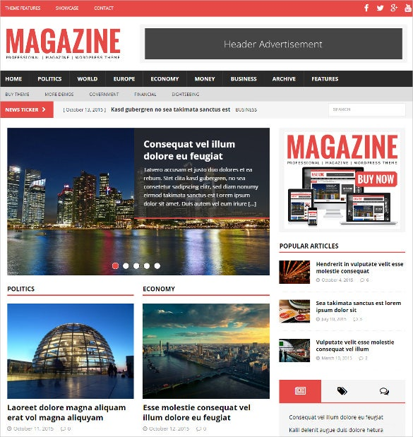 political magazine wordpress html5 theme