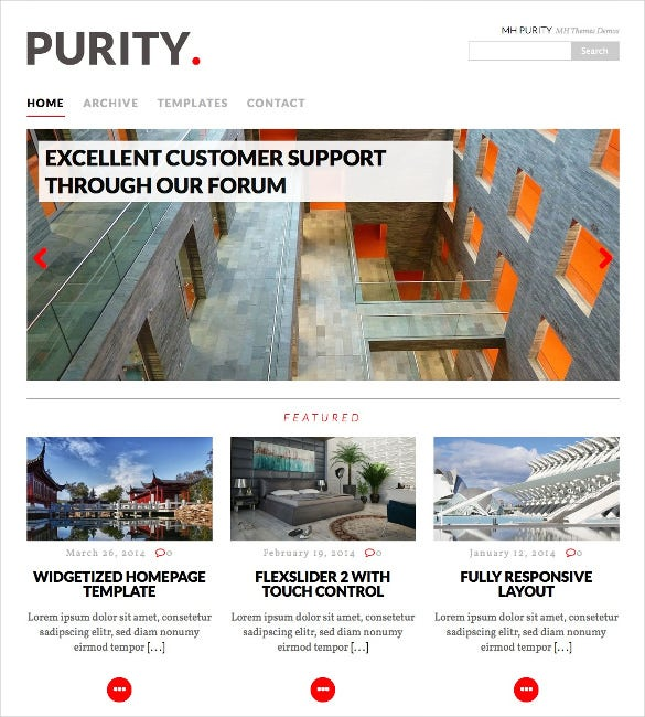 purity wordpress political html5 theme