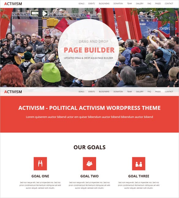 political activism wordpress bootstrap theme