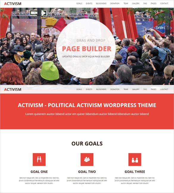 political activism wordpress bootstrap theme