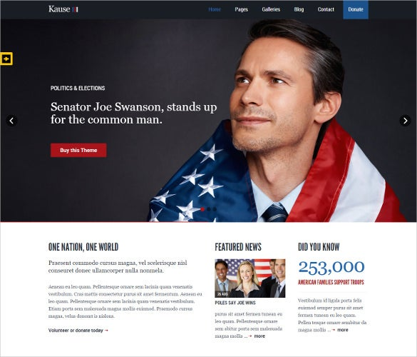 15+ Political PHP Themes & Templates | Free & Premium Templates