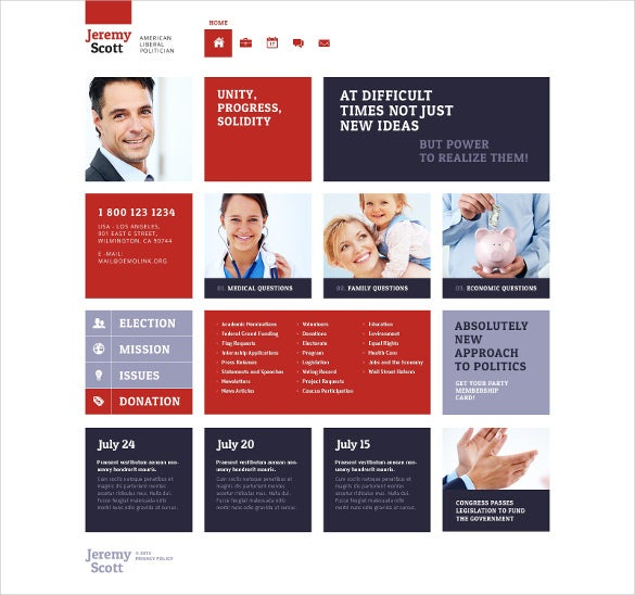 responsive political website template