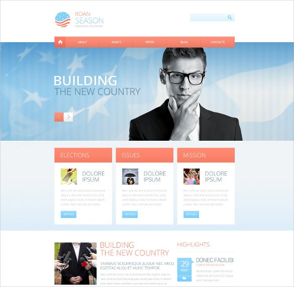 premium political responsive website theme