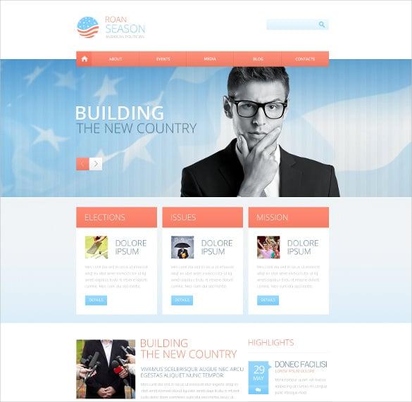 premium political responsive website theme